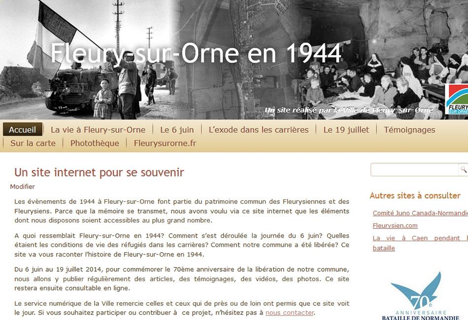 Fleury-sur-Orne en 1944