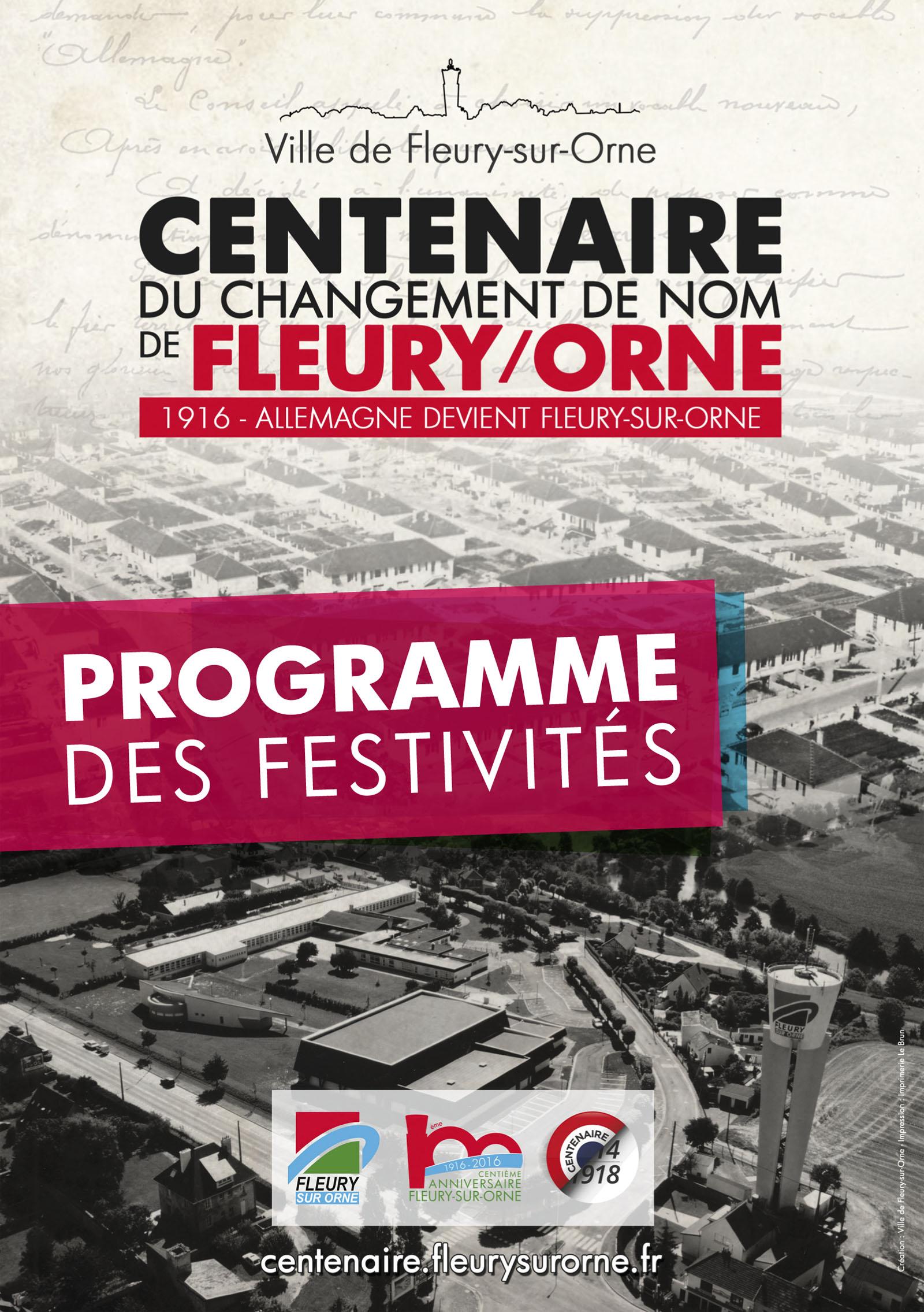 Programme des festivités du centenaire
